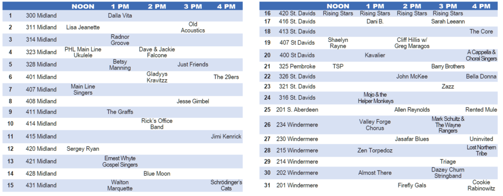 photograph regarding Rangers Printable Schedule named Timetable South Wayne PorchFest